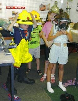 A school visit - the popular Fire Service display