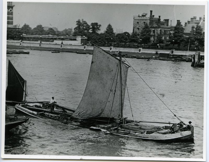 Barge on Thames circa 1900 