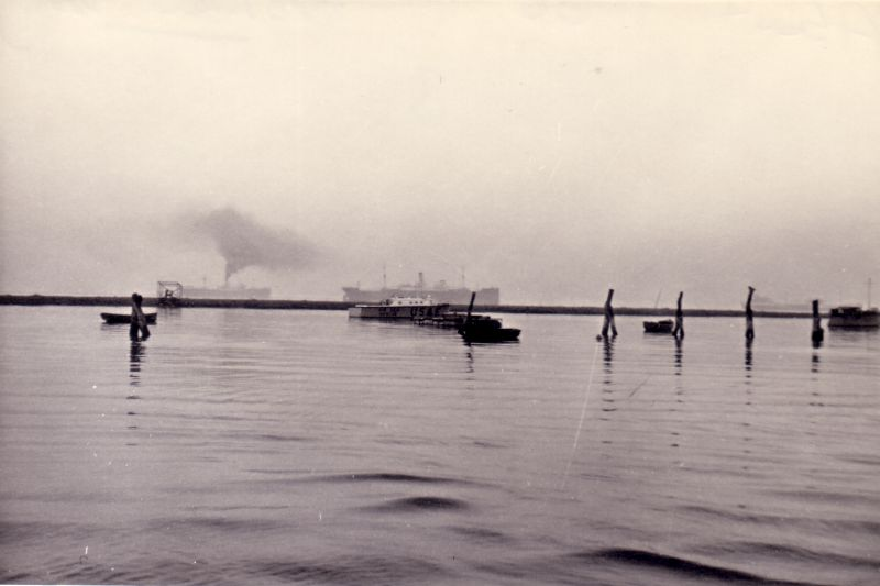 View from Bradwell Quay. The ship in the centre is believed to be PUNTARENAS. Date: c1958.