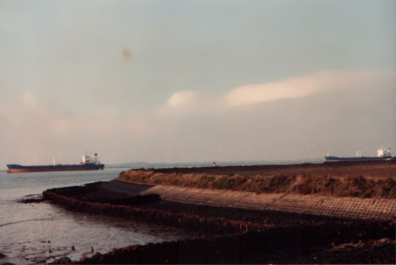 LIANA and MARTITA laid up in the River Blackwater. LIANA is on the left. Date: 1984.