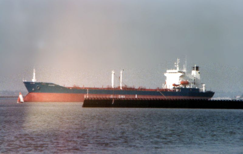 ID AA002800 MARTITA in the River Blackwater. She was sold to Shell and renamed EULIMA whilst ...