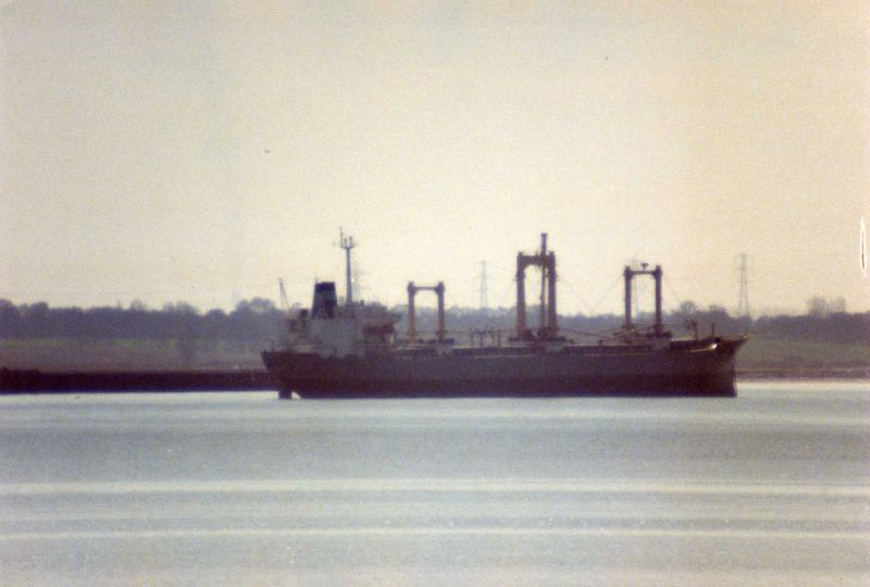 POLA laid up in the River Blackwater April 1984