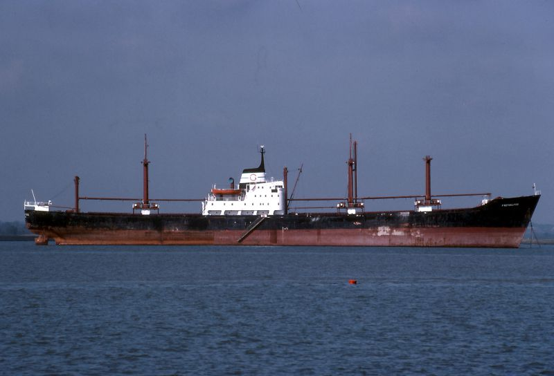 PROTOKLITOS laid up in the River Blackwater Date: October 1982.