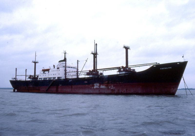 PROTOKLITOS in the River Blackwater Date: October 1982.