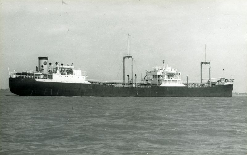 Ex Eagle Oil tanker laid up in the River Blackwater. Believed to be SAN VELINO, but is titled SAN VOLINO on www.photoship.co.uk Date: c1962.