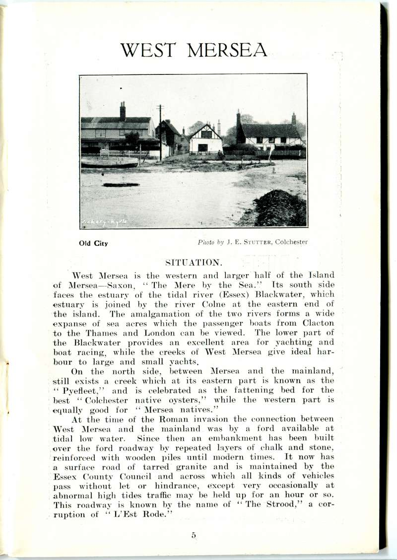 West Mersea Official Guide Page 5. 