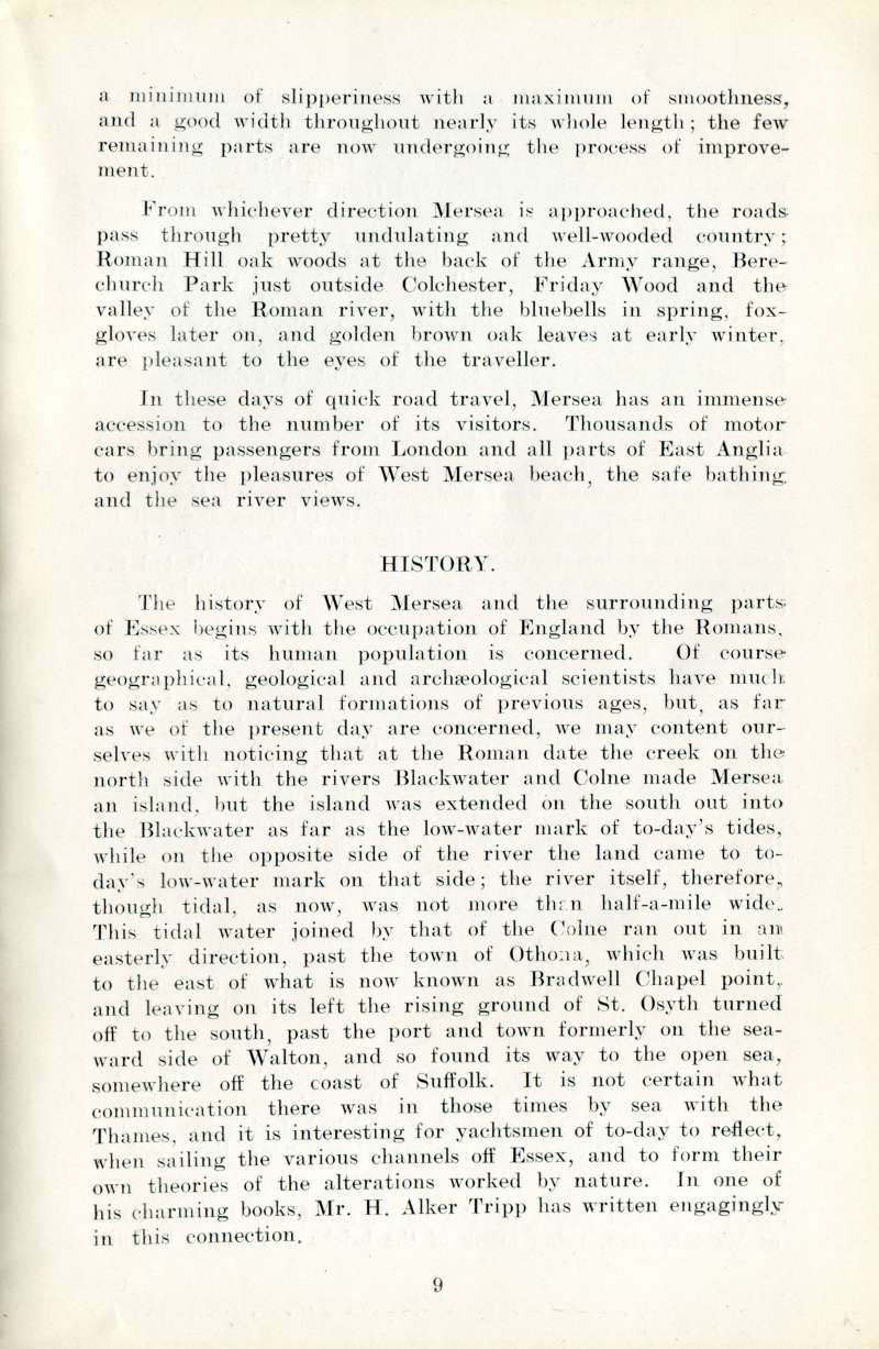 West Mersea Official Guide Page 9. History. 