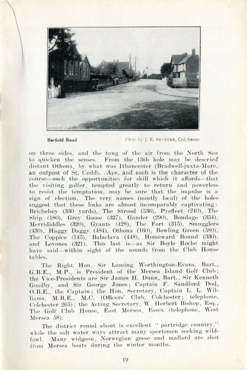 West Mersea Official Guide Page 19. 
