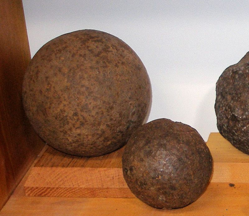 Cannon balls in Museum Collection.