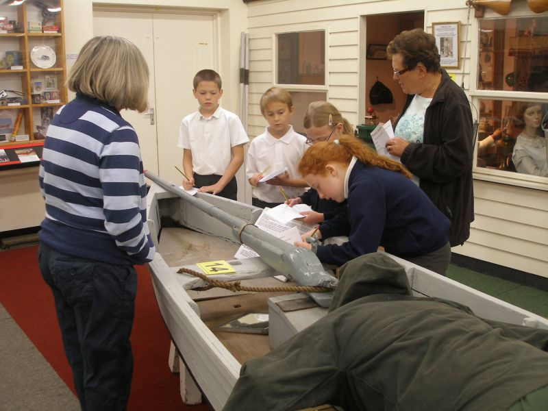 Mersea Museum - young visitors