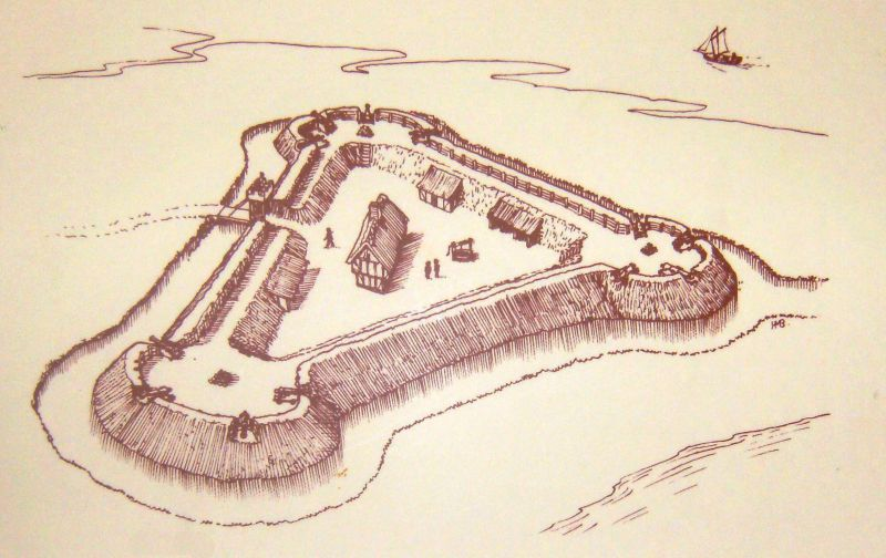 The Blockhouse Fort at East Mersea. 