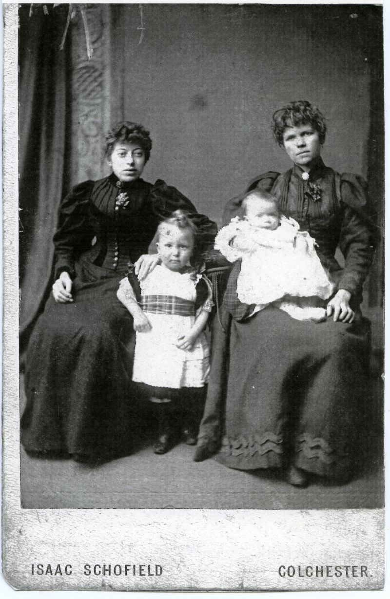 Emily Farthing née Green (on the right), with sons and sister-in-law. 