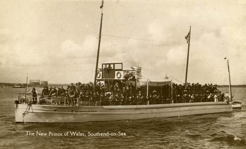 The NEW PRINCE OF WALES, Southend-on-Sea. Built by Alec Fowler at Bosham in 1923, and lost at Dunkirk in 1940. 