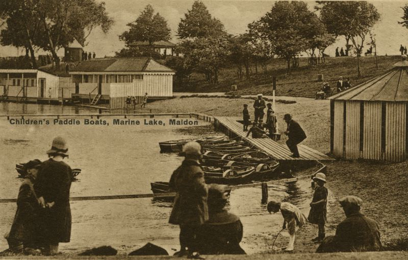 Children's Paddle Boats, Marine Lake, Maldon. 