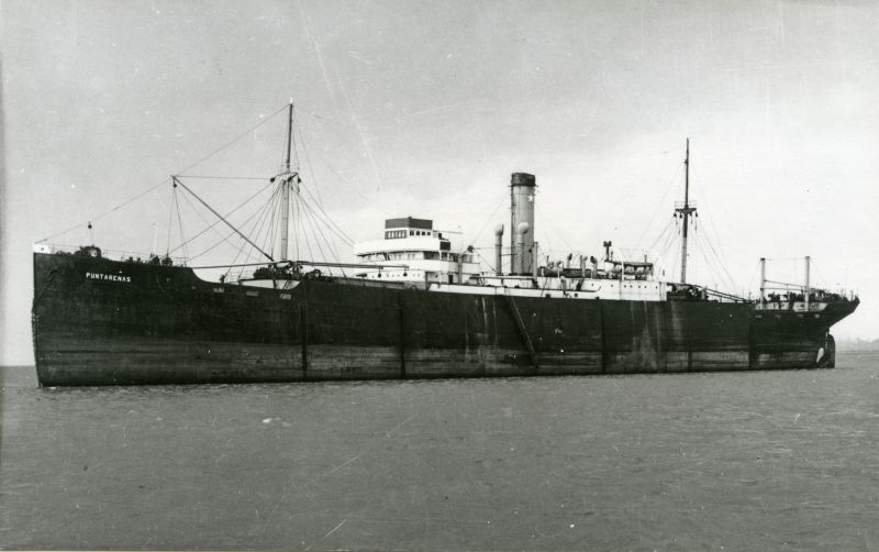 PUNTARENAS laid up, thought to be in the River Blackwater. Date: c1958.