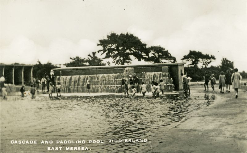 Cascade and Paddling Pool, Kiddiesland c1936