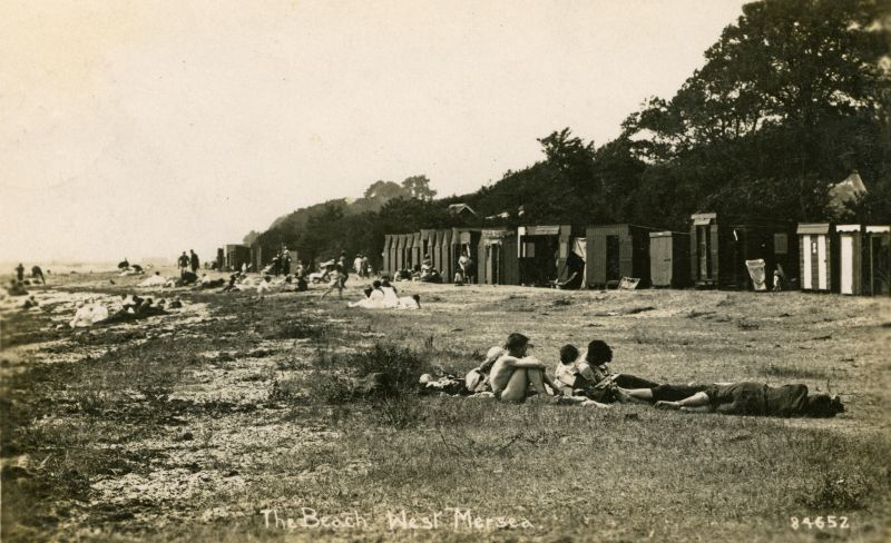 West Mersea beach in the early 1920s.