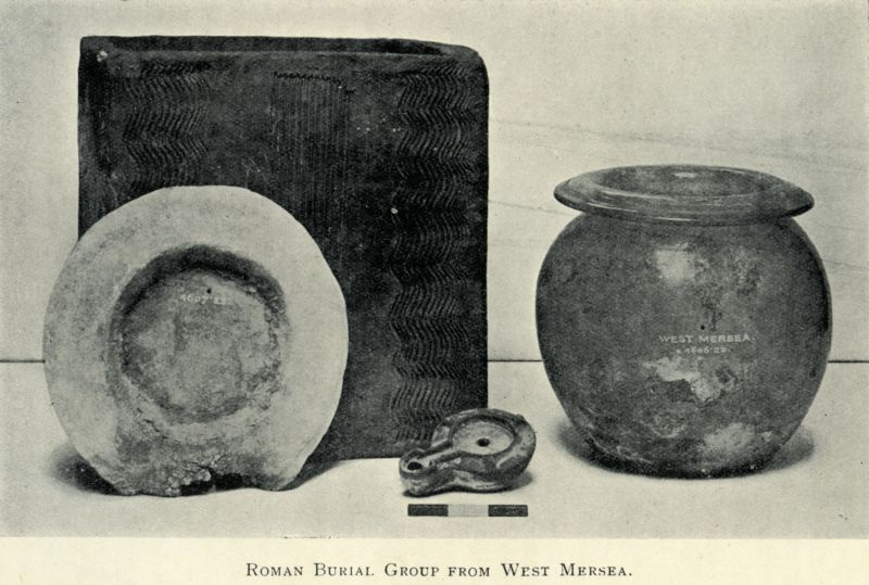 Roman Burial Group from West Mersea, photograph c1923