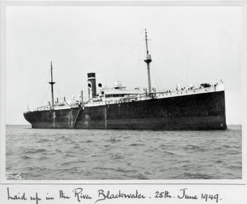 Blue Star Line GAELIC STAR Official No. 140302 in the River Blackwater. 