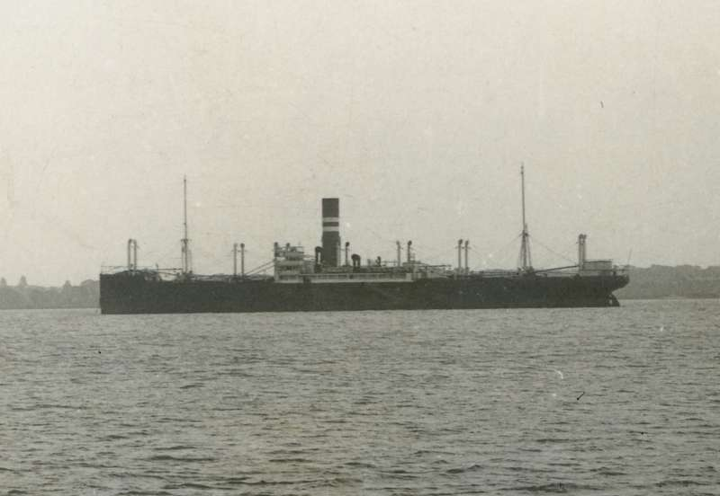Nelson Line M class vessel laid up in the River Blackwater.