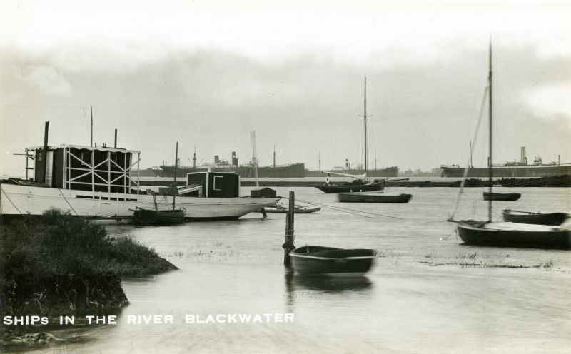Ships in the River Blackwater, taken from Bradwell.