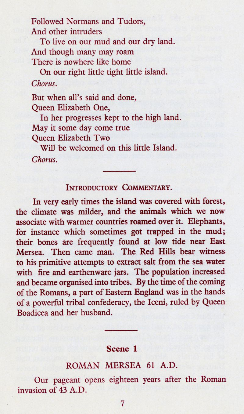 West Mersea Coronation Celebrations page 7.