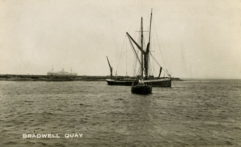 Barge BLACKWATER at Bradwell, 1935 or earlier. Date: Before 1935.
