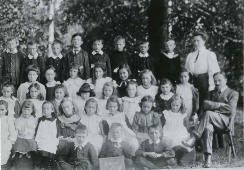 Birch School Group No. 3 1890s. Headmaster Mr Chandler on the right. 