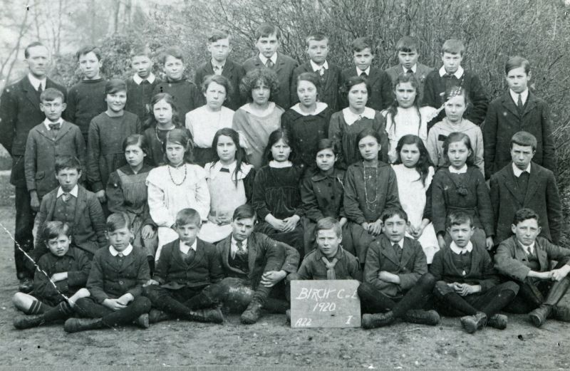 Birch C. of E. School 1920. Group I.