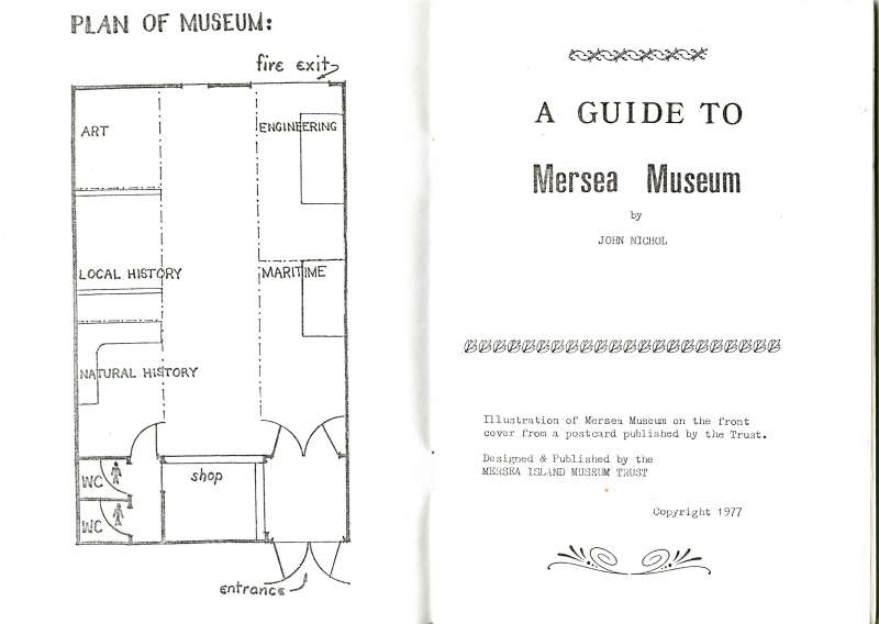 Mersea Museum Guidebook. Front papers. Plan of Museum.