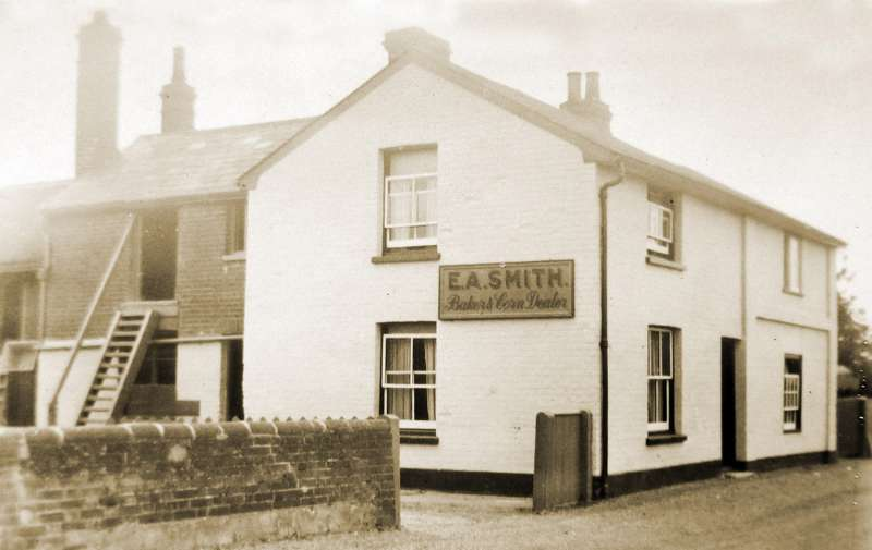 Abberton Bakery. E.A. Smith on the sign dates it 1928 - 1948. 