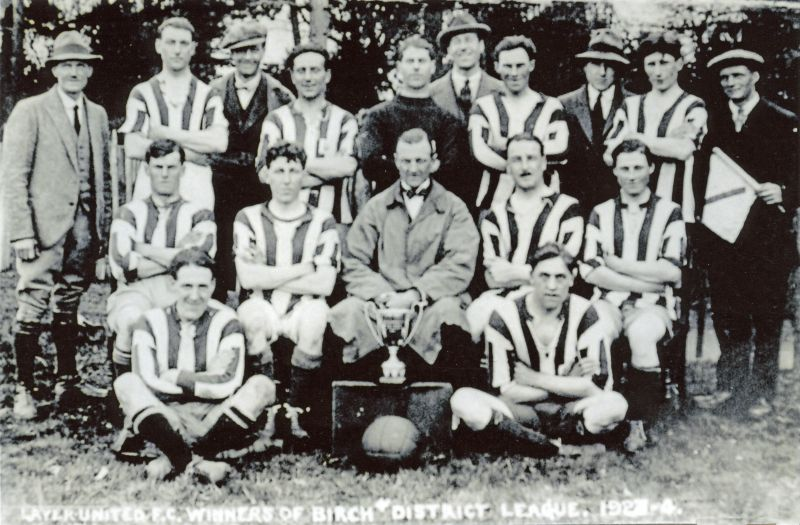 Layer United Football Club. Winners of Birch District League 1923-24.