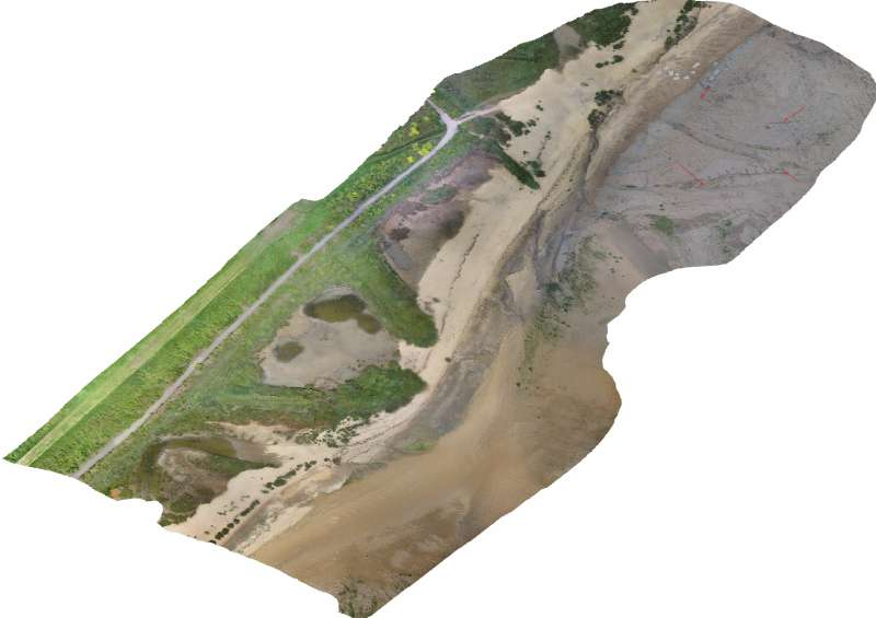 Aerial survey of the area around the fort at East Mersea.