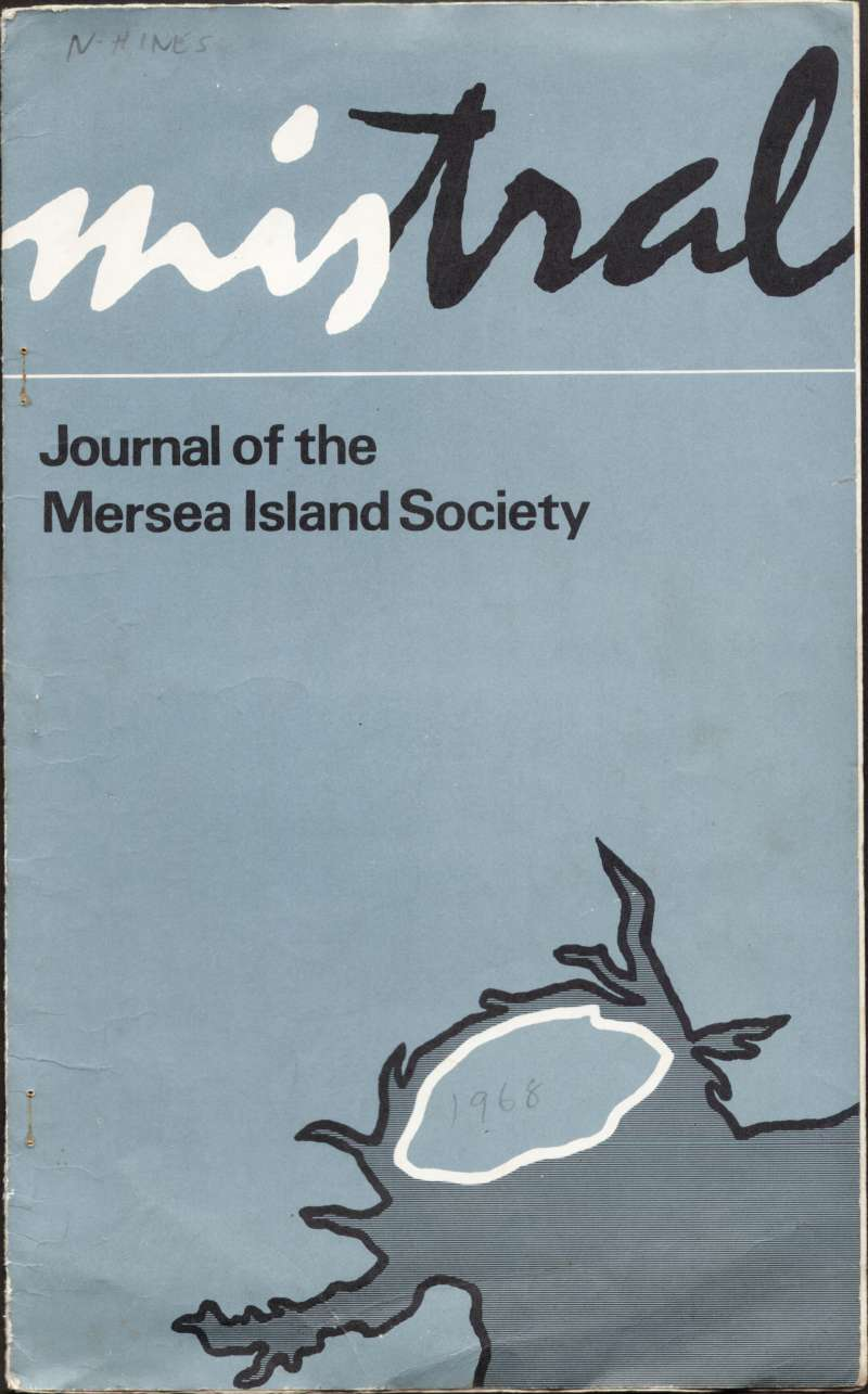 Mistral. Journal of the Mersea Island Society. Winter 1968 / 1969. Cover. 