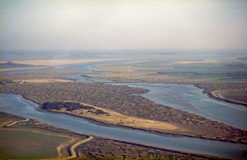 View east across Ray Island to the Strood and Pyefleet. 