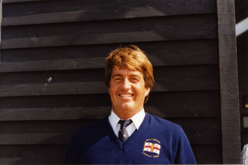 West Mersea Lifeboat new boathouse opening - Peter Smith, helmsman. 