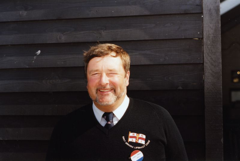 West Mersea Lifeboat new boathouse opening - Wall Daniels, crew, latterly helmsman. 
