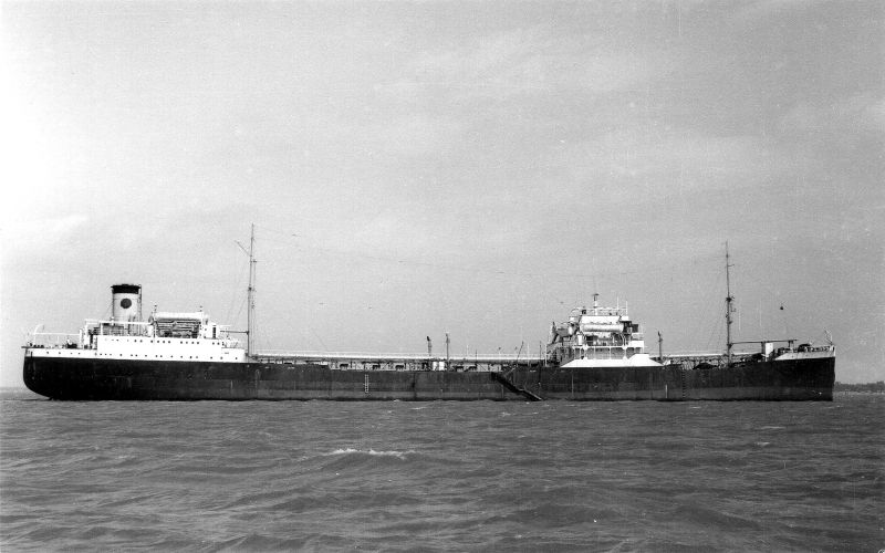 Eagle Oil tanker SAN ELISEO laid up, believed to be in the River Blackwater. She was in the river from October 1960 to April 1963, when she went for scrap. Date: c1962.