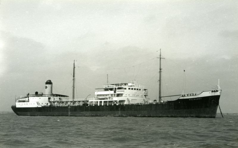 Shell tanker GALEOMMA laid up in River Blackwater. Date: c1961.