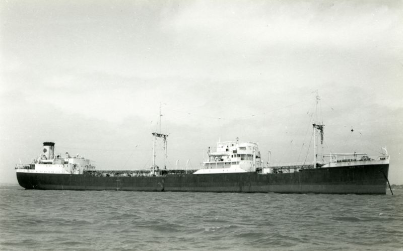 Former Eagle Oil tanker SAN VITO laid up in River Blackwater. Date: c1961.