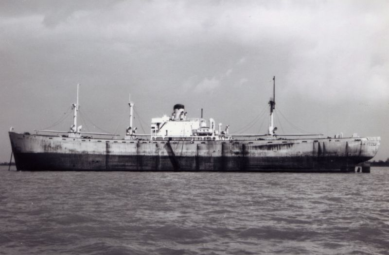 SARIZA laid up in River Blackwater. Date: c1958.