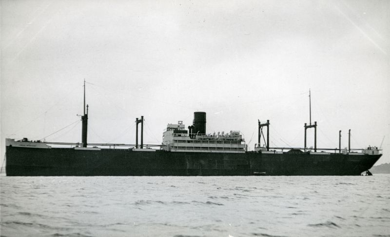 LONDON MERCHANT laid up in the River Blackwater. She was laid up 1930, west of Tollesbury Pier. Photograph from A. Duncan. Date: Before May 1935.