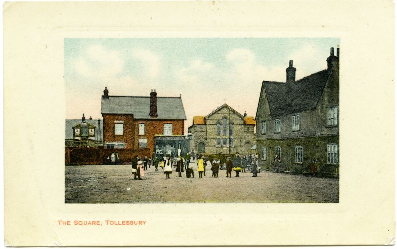 The Square, Tollesbury. Postcard by Harrington & Gower, Tollesbury, mailed 1909. 
