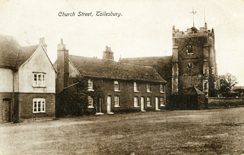 Church Street, Tollesbury. The Square. Postcard mailed August 1914. 