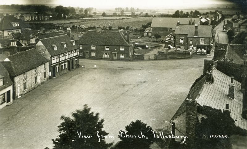 View from Church, Tollesbury. Postcard 126350. 