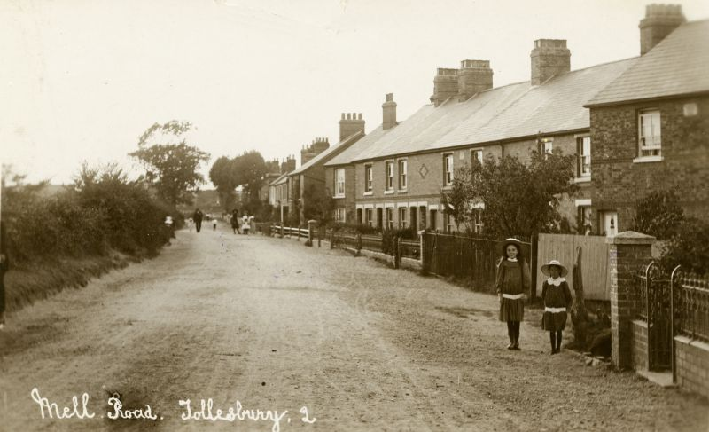 Mell Road, Tollesbury. Postcard by Thomas Hammond. 