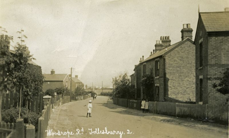 Woodrope Road, Tollesbury. Postcard by Hammond, mailed 1922. 