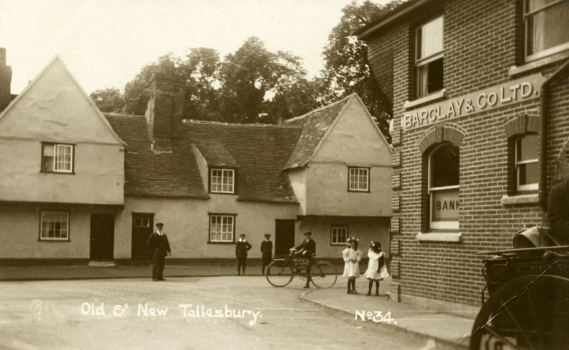 Old and New Tollesbury. Postcard No.34 mailed 2 August 1918.
