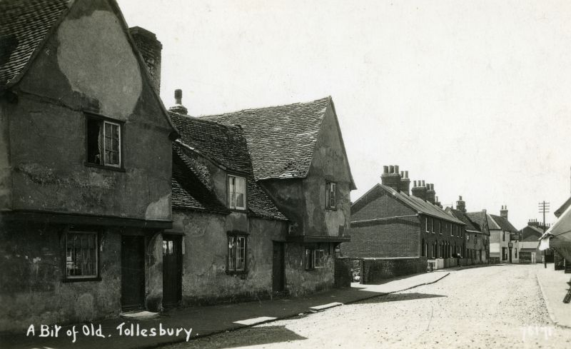 A Bit of Old Tollesbury. Postcard.