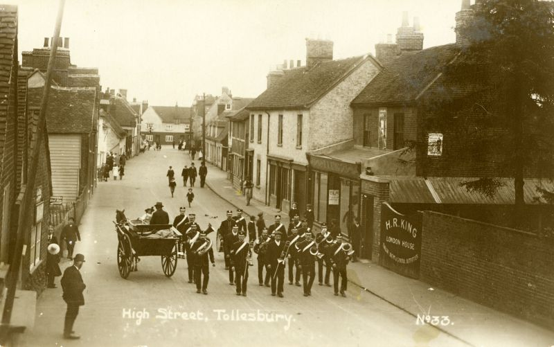 High Street, Tollesbury. Postcard No.33.